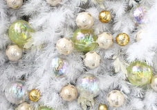 Background made of christmas balls and tinsel Stock Photography