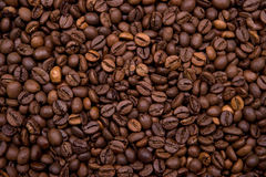Background made with coffee beans Royalty Free Stock Photos