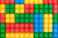 Background made with color  toy bricks. Royalty Free Stock Photography