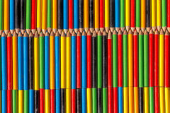 Background made from colored pencils Stock Image