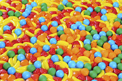 Background made of colorful candy. Fruit candy Stock Photo