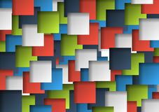 Background made of colorful 3d squares Stock Photo