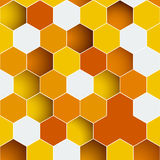 Background made of colorful hexagons Royalty Free Stock Photos