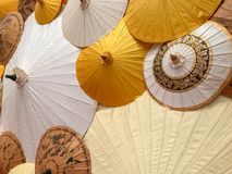 Background made from colorful paper umbrellas Royalty Free Stock Photos