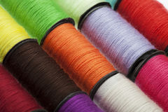 Background made of colorful sewing threads Royalty Free Stock Images