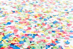 Background made with confettis Stock Photos