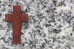 Background made of   cross and stone Royalty Free Stock Photography