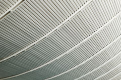 Background made of curved strips of  metal structures Royalty Free Stock Photos