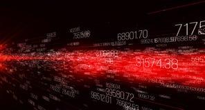 Background made of digits, motion of digital data vector illustration
