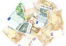 Background made of EURO money Royalty Free Stock Photo