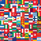 Background made of flag icons Stock Photos