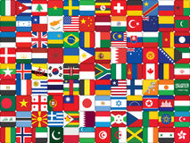 Background made of flag icons. Background made of world flag icons Royalty Free Stock Photo
