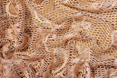 Background Made with Folded Lacy Fabric Royalty Free Stock Photography