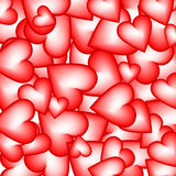 Background made of hearts. Vector illustration Stock Photo