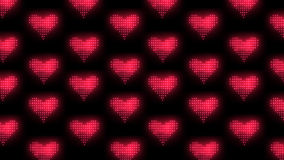 Background made of hearts stock video