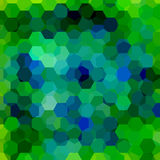 Background made of hexagons. Square composition with geometric shapes. Eps 10. Green, blue colors stock illustration