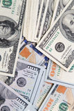 Background made of hundred dollar banknotes Stock Photos