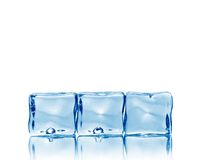 Background, made of ice cubes Royalty Free Stock Images
