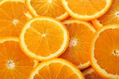 Background made of juicy oranges Stock Images