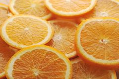 Background made of juicy oranges Royalty Free Stock Images