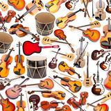 Background made. Of many musical instruments stock images