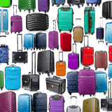 Background made of many suitcases Stock Photos