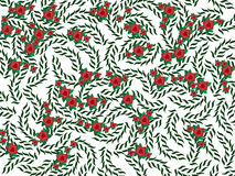 Background made from nature elements. Background made from red flowers and green leaves Royalty Free Stock Image
