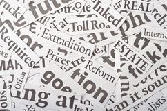 Newspaper clippings. Background, made of newspaper clippings Stock Photography