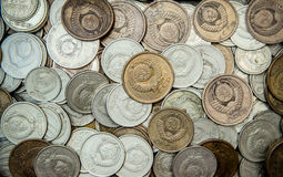 Background made of old coins Stock Images