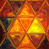 Background made of orange diffused triangles effect glass. Background made of orange diffused triangles Stock Photo