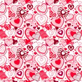 Background made of ornate hearts Stock Images