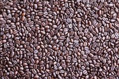 Background made from overhead view of coffee beans Royalty Free Stock Photography