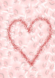 Background made of pink flowers and a big heart Stock Image