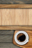 Background made of planks and  coffee Stock Photo