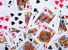 Background made of playing cards Royalty Free Stock Photos