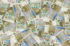 Background made of 500 pln banknotes Royalty Free Stock Images