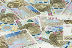 Background made of 500 pln banknotes Royalty Free Stock Photos