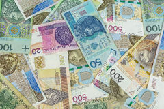 Background made of 500 pln banknotes Royalty Free Stock Photo