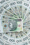 Background made of polish 100 pln banknotes Royalty Free Stock Image