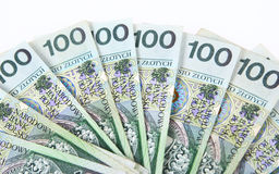 Background made of polish banknotes Royalty Free Stock Photo