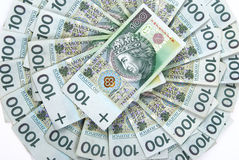 Background made of polish banknotes Royalty Free Stock Images