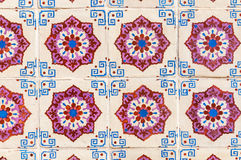 Background made of Portuguese ceramic tiles called azulejos Stock Photography