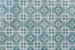 Background made of Portuguese ceramic tiles called azulejos Royalty Free Stock Photos