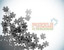 Background made from puzzle pieces Stock Photography