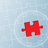 Background made from puzzle pieces. Leadership concept Stock Images