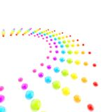 Background made of rainbow colored glossy spheres Stock Images
