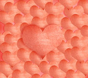 Background made of red heart stickers Royalty Free Stock Photos