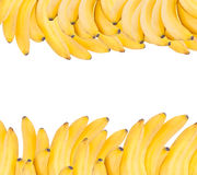 Background made of ripe bananas isolated on white Royalty Free Stock Photography