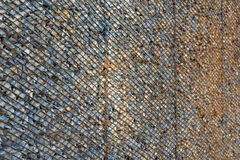 Background made from rusty metal mesh cage Stock Image