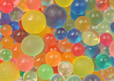 Background made with scattered color balls Stock Photos